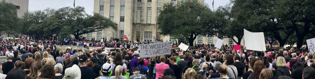 Protest at Houston City Hall