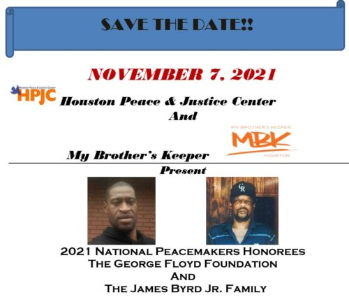 HPJC 2021 Peacemaker Awards honors George Floyd Foundation and the James Byrd Jr. family